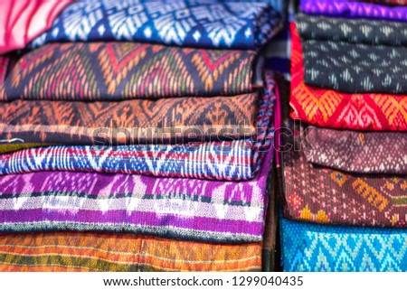 Old cloth, folk cloth, cloth patterns of Thai and Lao people, Southeast Asia