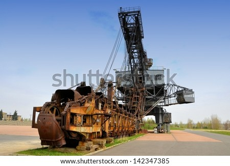 old coal excavator in a disused mine