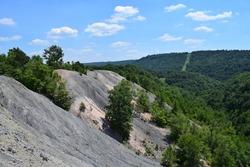 Old coal mining site in Western Pennsylvania.