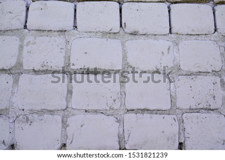 Old cobblestone pavement cobbles background