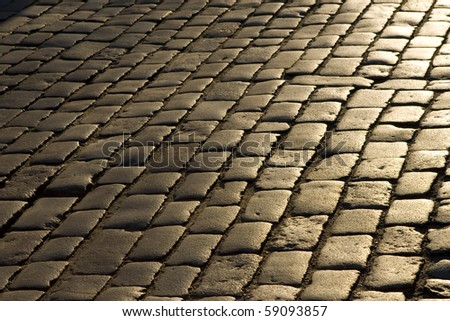 Old cobblestone street.