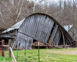 Old collapsed Barn in rural Arkansas