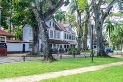 Old colonial buildings in Paramaribo, capital of Suriname.