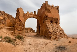 Old colonial fort in Mirleft, a small town and rural commune in Tiznit Province of the Souss-Massa-Draa region of Morocco.