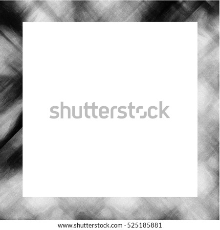 Old Color Grunge Painted Plaster Stucco Wall Vintage Weathered Frame With Abstract Antique Cracked Scratched Texture And Retro Pattern. Empty Space For Image Or Text. Square 1:1 Aspect Ratio #525185881