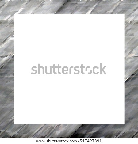 Old color grunge vintage weathered frame with abstract antique texture and retro pattern. Empty space for image or text. 1:1 aspect ratio #517497391