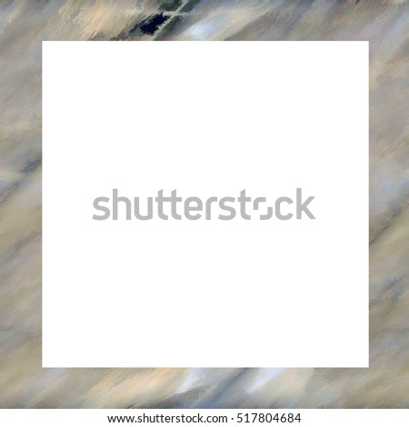 Old color grunge vintage weathered frame with abstract antique texture and retro pattern. Empty space for image or text. 1:1 aspect ratio #517804684