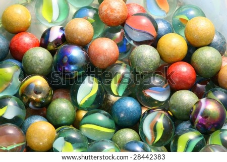 old colored balls