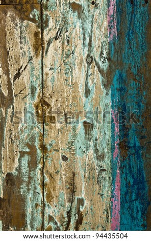 Old colored wooden background.