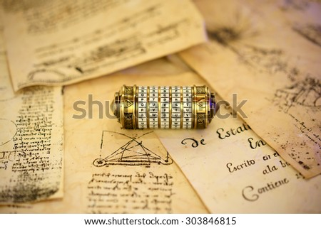 old combination lock, where the key question,quest,secret