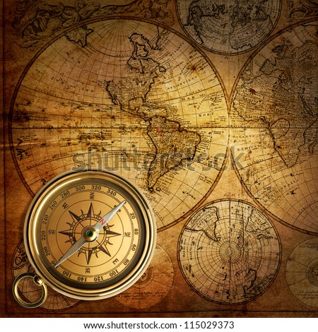 Free photos a compass on a old world map background compass old compass on vintage map 1746 115029373 gumiabroncs Images