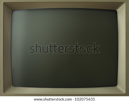 Old computer/TV screen.