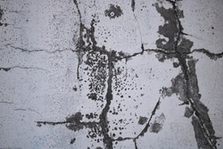 Old concrete wall stucco cracked grunge, Abstract background. Monochrome texture isolation, Cambodia
