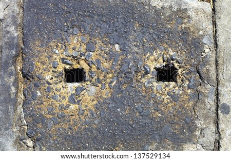 Old Concrete Wall texture with black hole