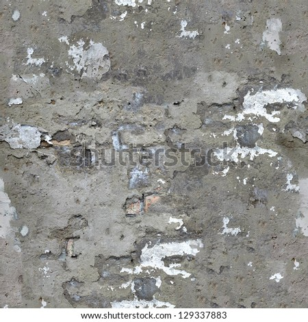 Old Concrete Wall Texture with Cracks and Dirt Spots. Seamless Tileable Texture.