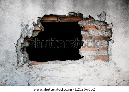 Old Concrete Wall With Broken Tiles,Use As Horror Scene Stock photo ©
