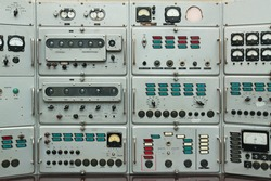 Old control panel the Soviet ballistic missiles. This device has been made of the Caribbean crisis.