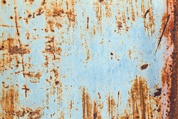 Old corroded metal grunge background or texture