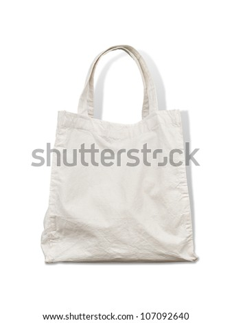 Old cotton bag - stock photo