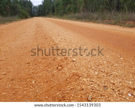 Old Country Dirt Red Dirt Gravel Road #1543139303