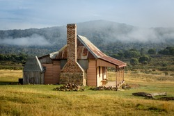 Old country homestead from 1870's in  rural Australia.  The home had later additions in 1900's and later repair work to its structure.  A heritage building now owned by the public to view and enjoy