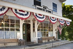 Old country store in small New England town