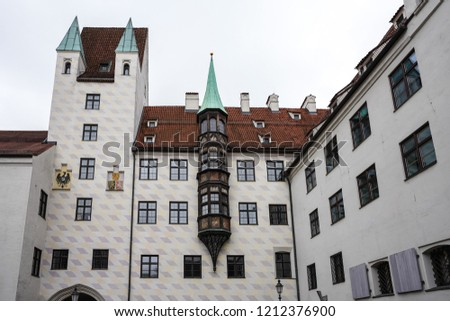 Old Court in Munich, Germany. The Court is the former residence of Louis IV, Holy Roman Emperor.