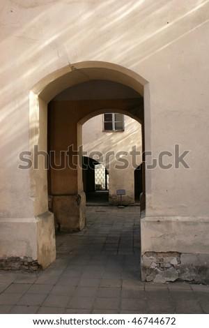 Old courtyard in Vilnius university