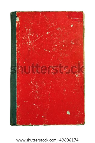 Old cover of the book isolated on white