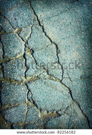 Old cracked asphalt