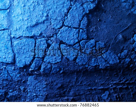 Old cracked asphalt blue texture background