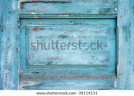 old cracked color on door