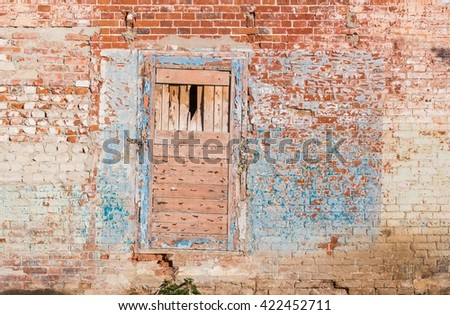 Detail · Old crumbling painted brick wall with bricked up doorway. Architectural details for texture or background & Free Bricked up doorway Photos | Avopix.com Pezcame.Com