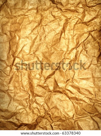 Old crumpled paper. - stock photo