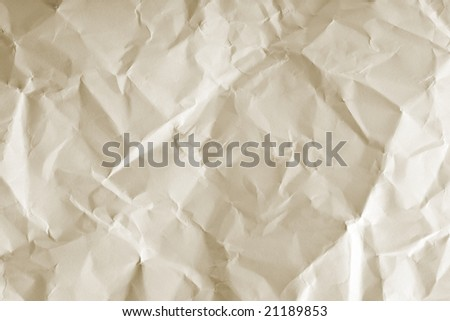 old crushed paper background - stock photo