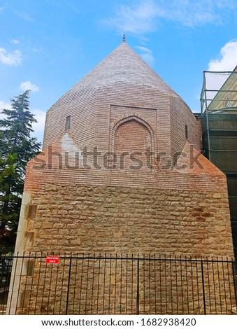 Old cupola tomb from Seljuk period in Konya Stok fotoğraf ©