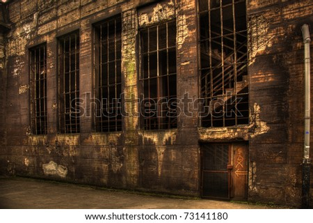 old dark abandoned building from steelfactory
