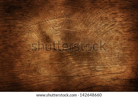 Old dark brown wooden background or texture