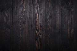 Old dark brown wooden plank background. Vintage and retro style.