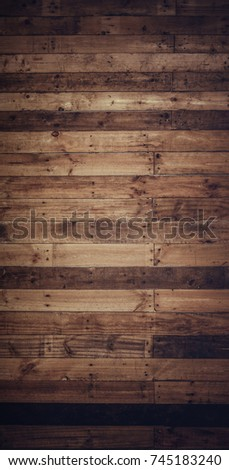 Old dark wood board texture background natural with pattern for interior design. #745183240