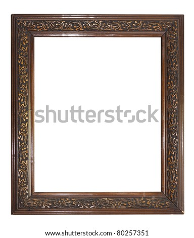old dark wooden picture frame See my portfolio for more