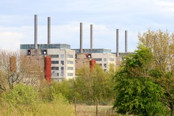 Old decommissioned electrical power station