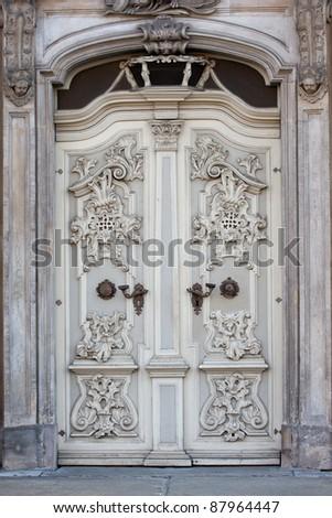 Old decorative door
