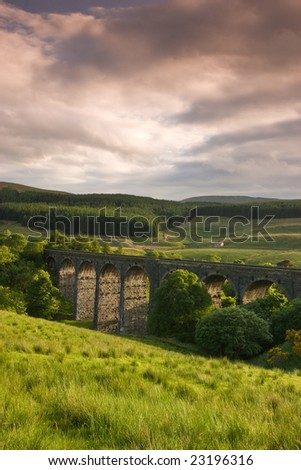 Old Dent Head Viaduct In Yorkshire Dales
