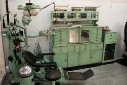 Old dentist office furniture vintage XIX