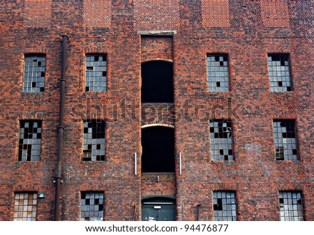Old derelict victorian warehouse