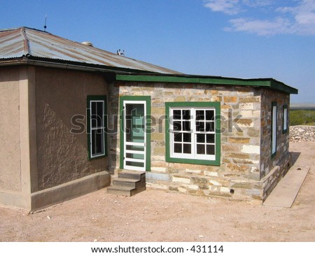 Photo of  old desert ranch house