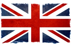 old designed grunge british flag