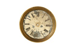 old dial of the clock without arrows