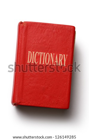 Old dictionary on white background - stock photo